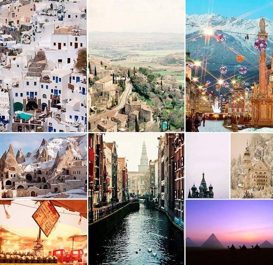 Travel, greece, italy, austria, turkey, amsterdam, russia, germany, morocco, egypt