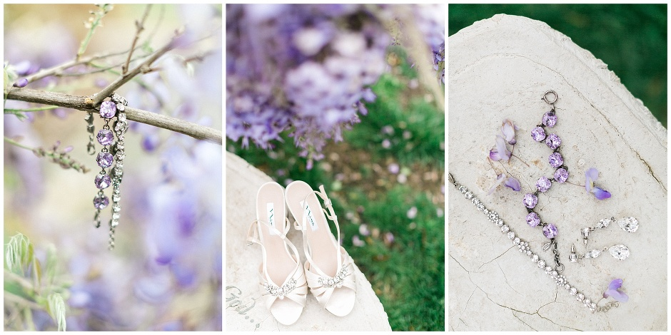 wedding day details all in purple