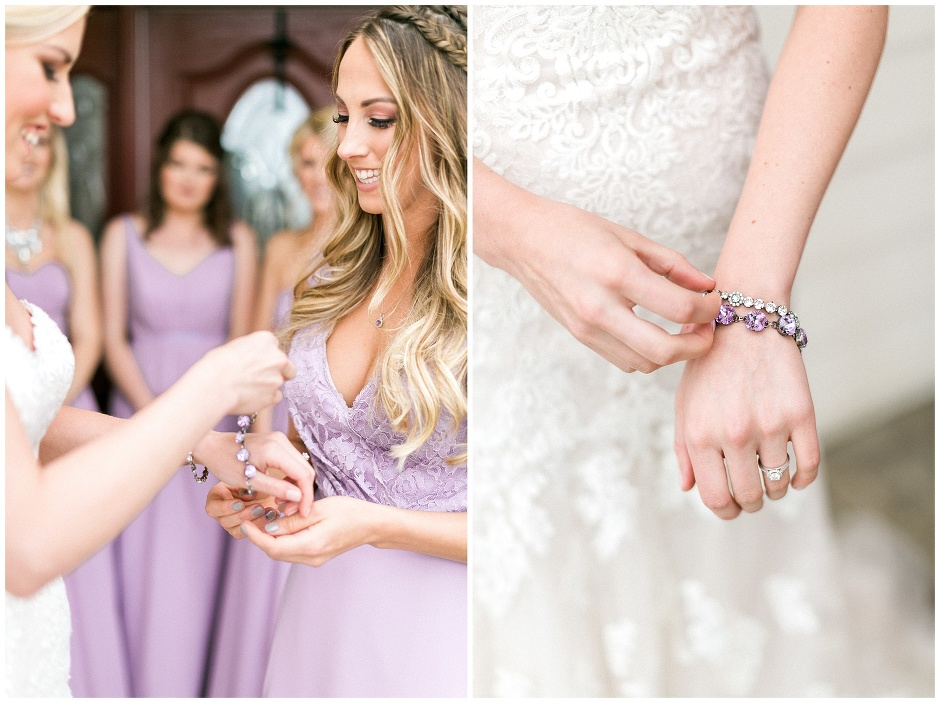 purple accessories for a wedding