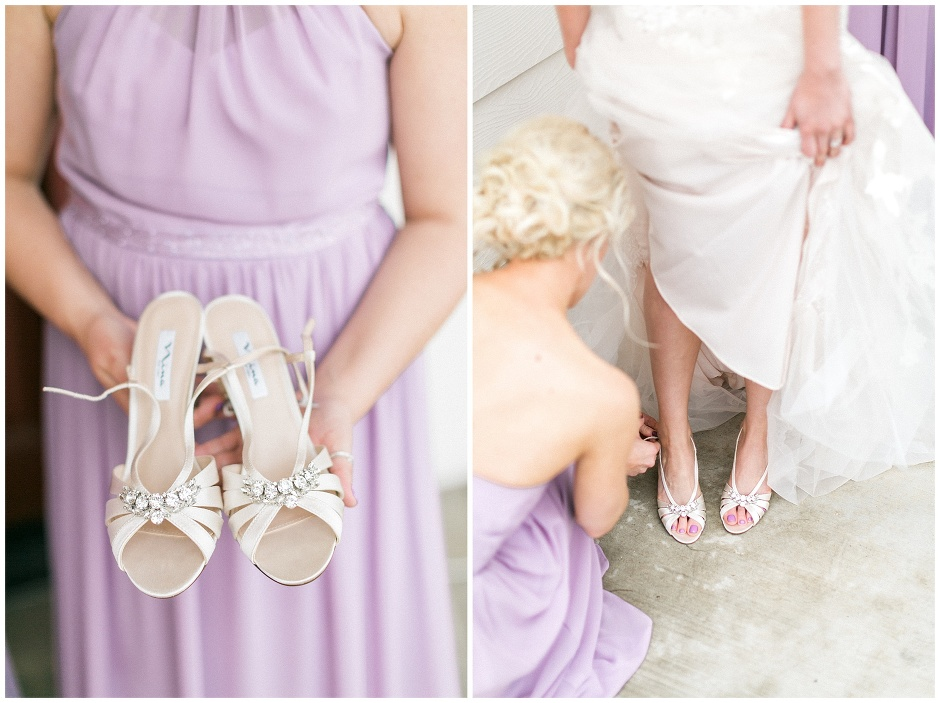 white and jeweled wedding shoes