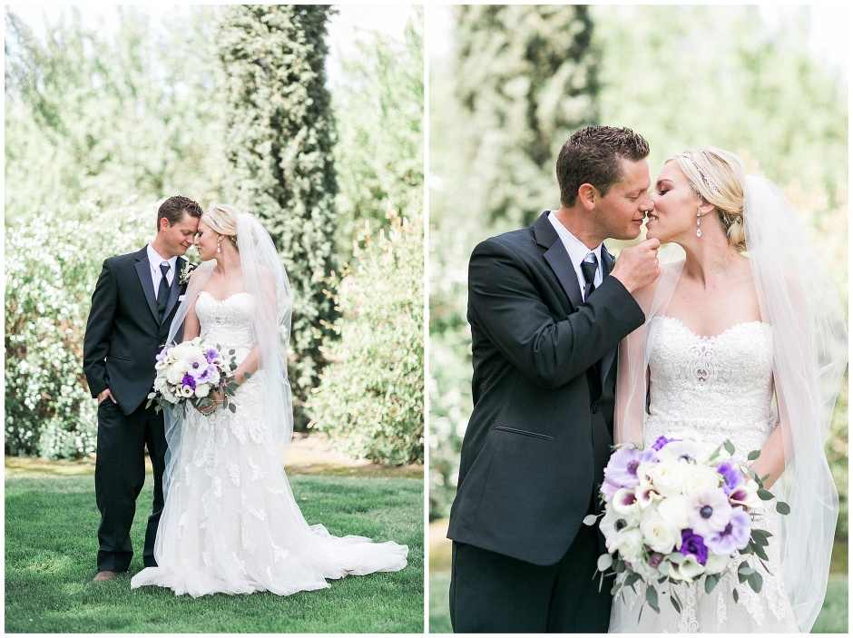 bride and groom forehead to forehead