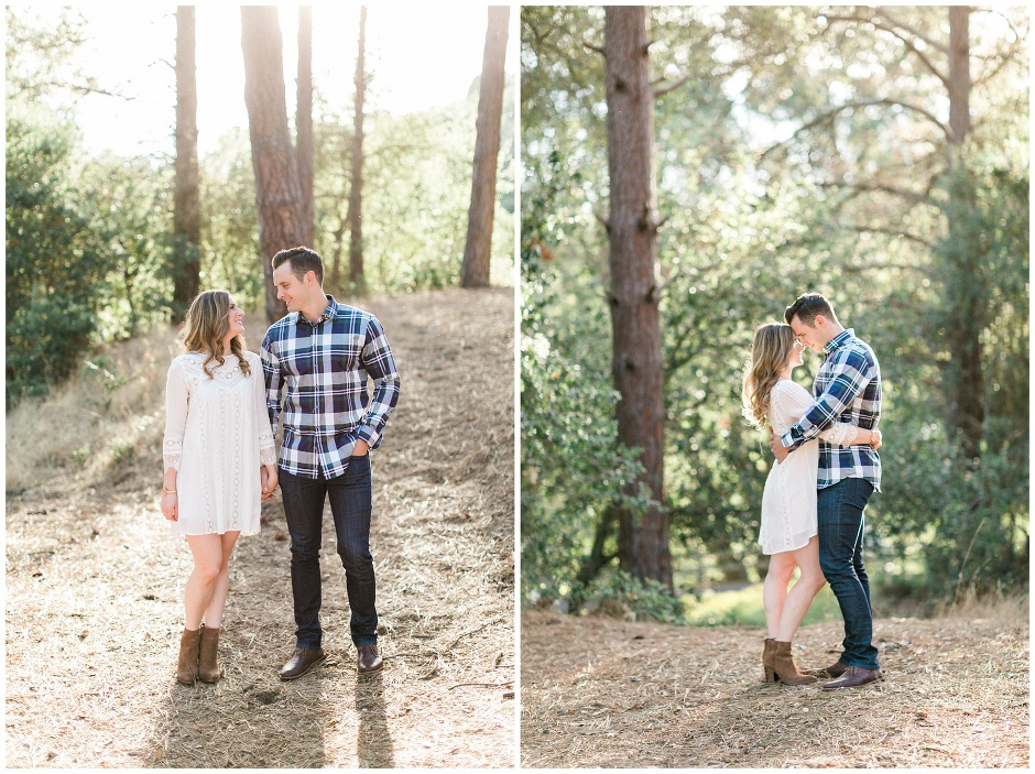 guy in a plaid shirt, girl in a white dress and boots