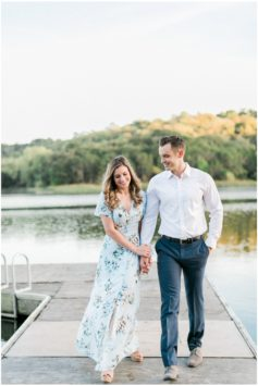 lakeside summer engagement session