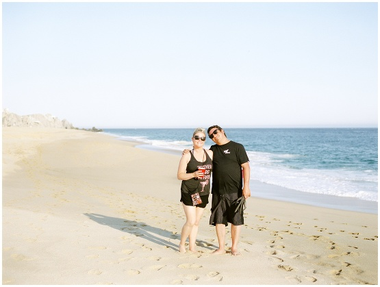 couple on a beach in cabo