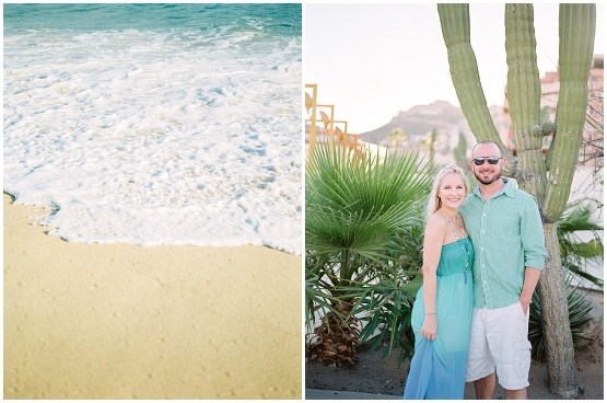 couple standing in front of cactus