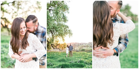 golden sunset engagement photos