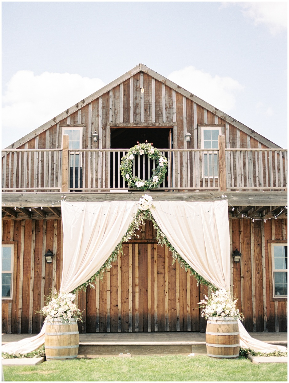 copper and pastel barn wedding