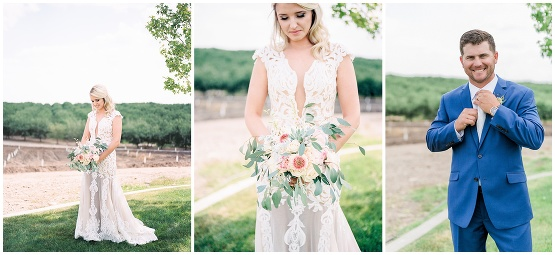 bridal portraits, bride in a lace dress