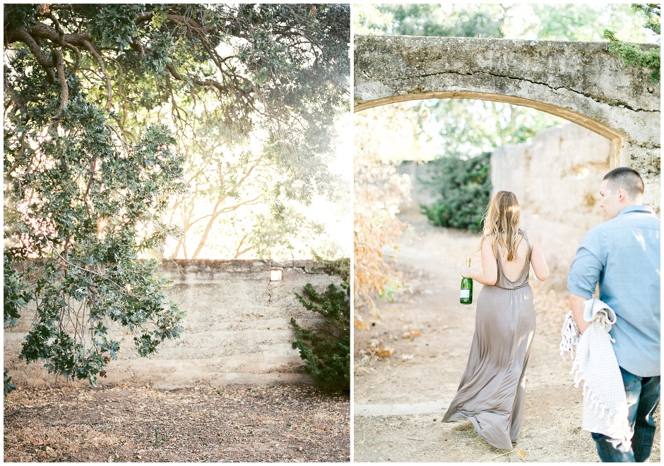 girl carrying a bottle of champagne