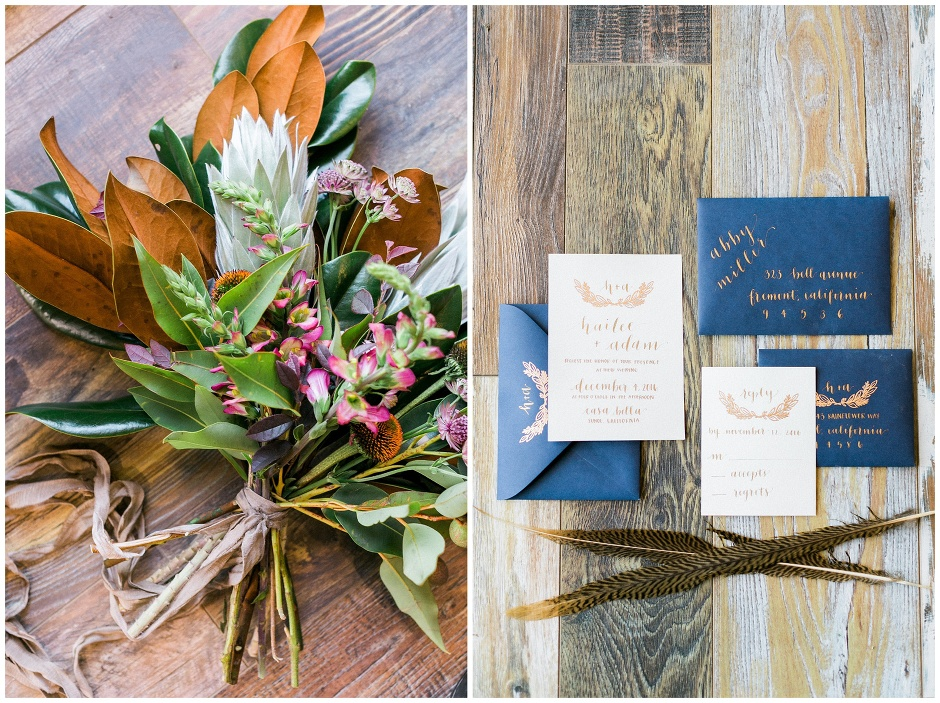 hunter gather styled shoot table setting