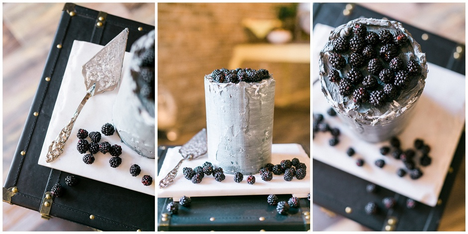 wedding cake that looks like concrete