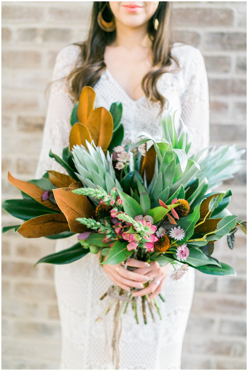 magnolia leave bouquet