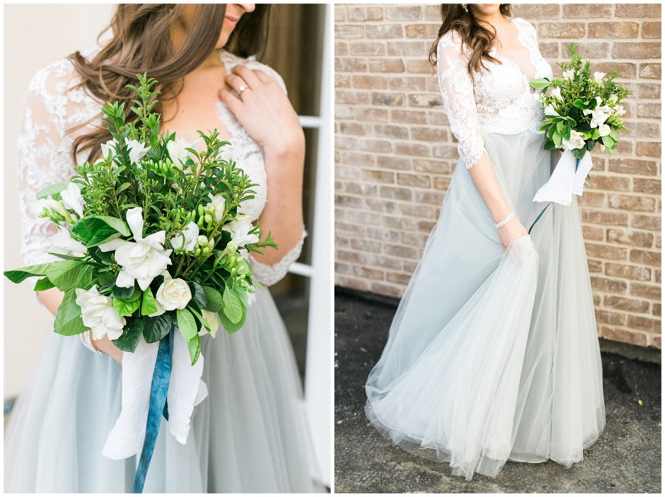 unique blue wedding skirt