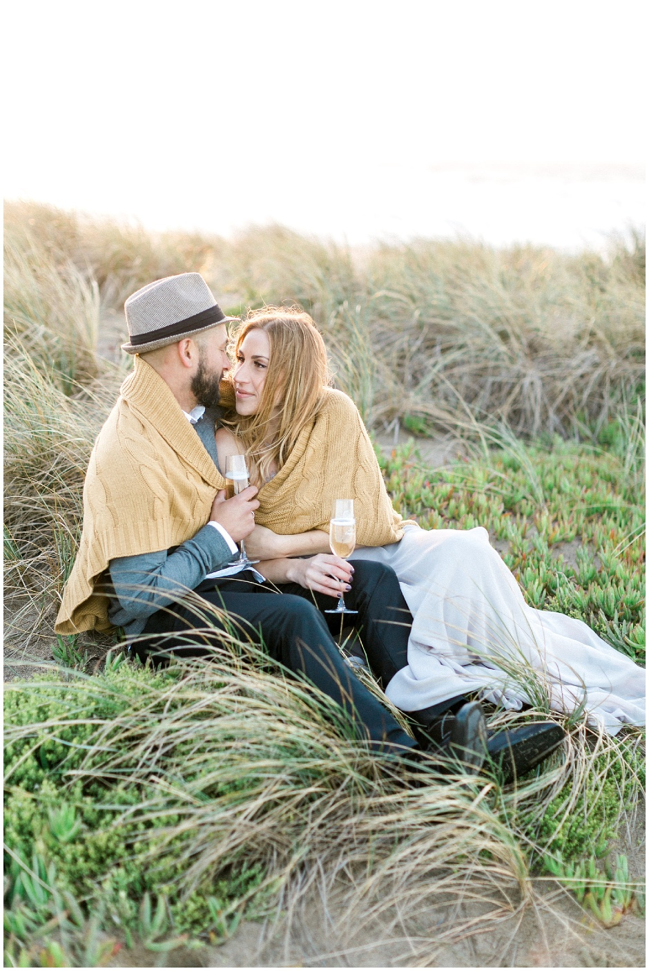 romantic point reyes engagement session