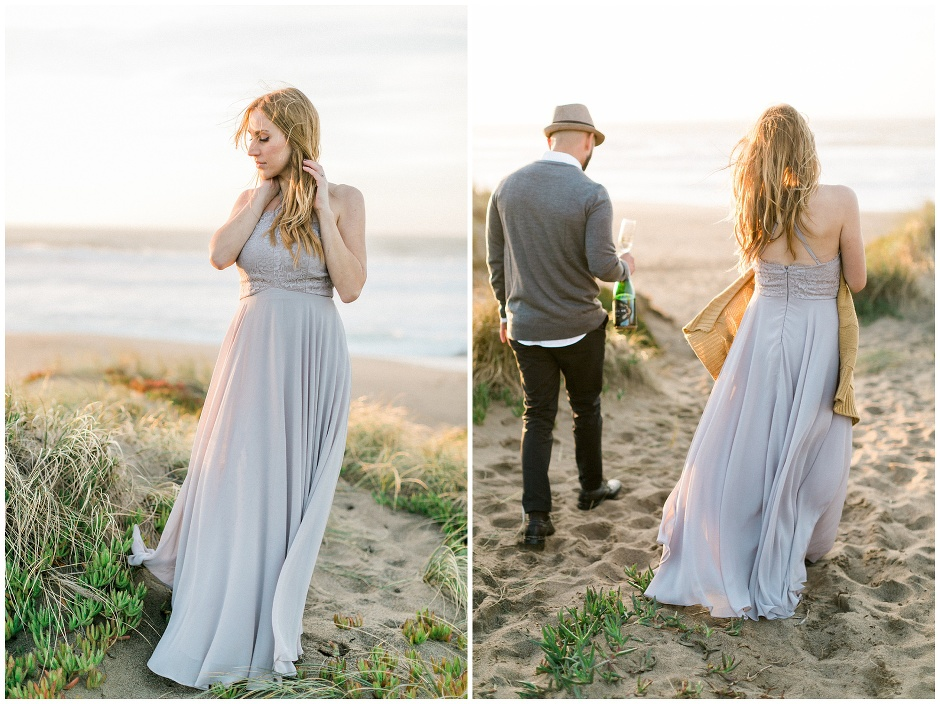 couple walking in the sand